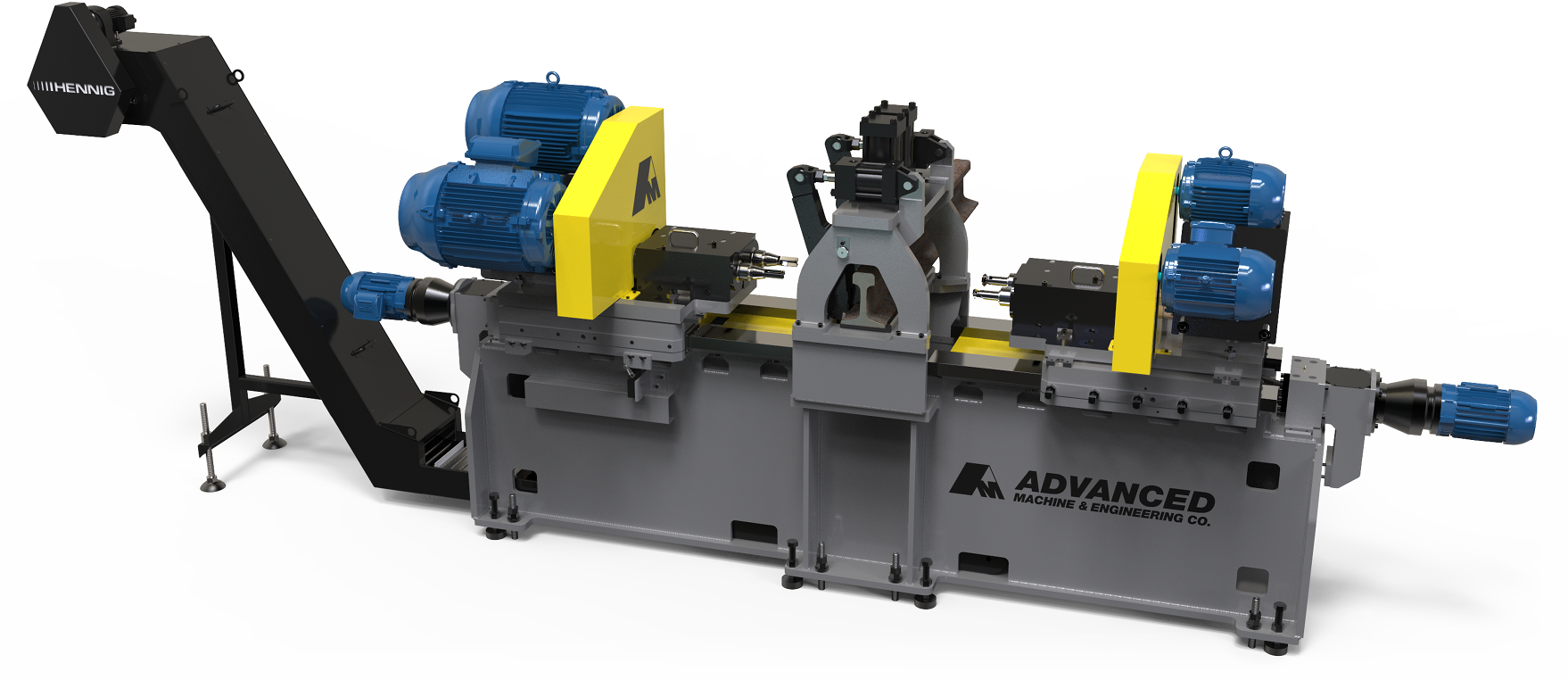 Custom 4 Spindle Rail Drilling Machine