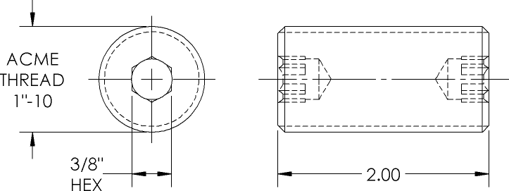 Connecting Rod Line Drawing