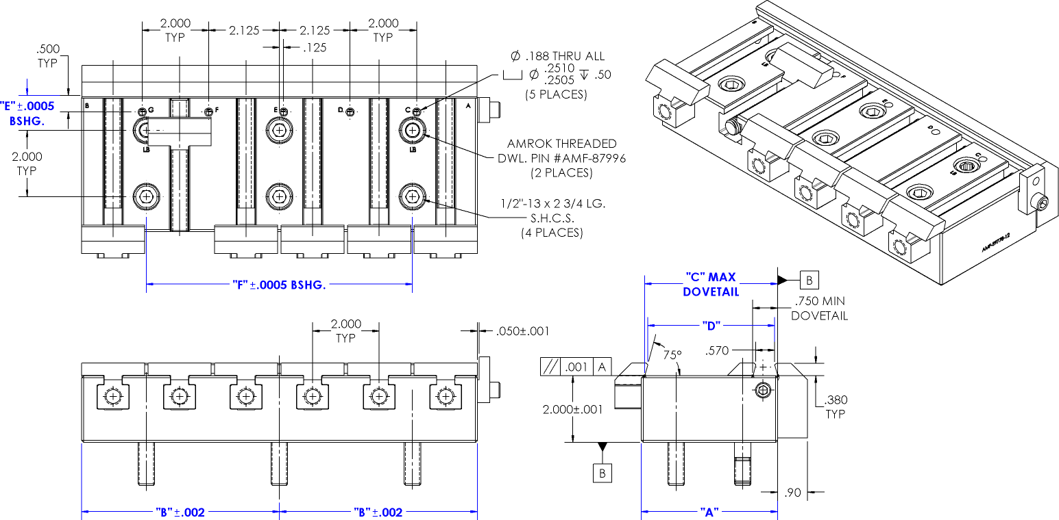 dovetail vise Drawing