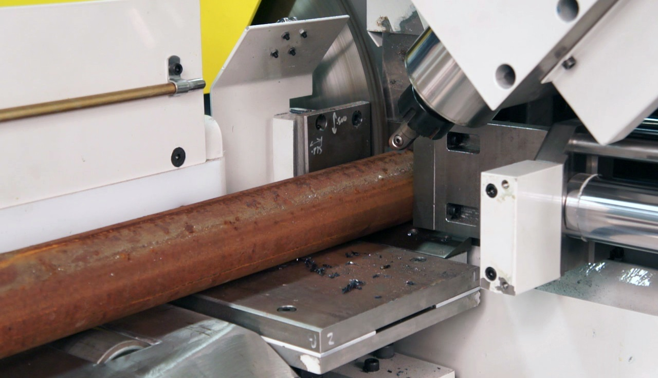 handle multiple process after or before high production metal sawing
