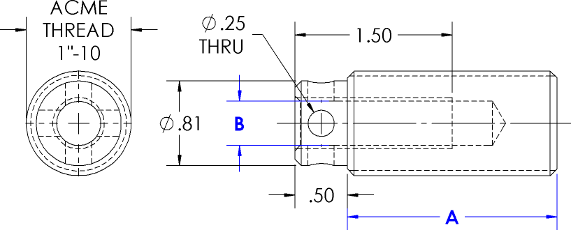 Universal Threaded Plugs Line Drawing